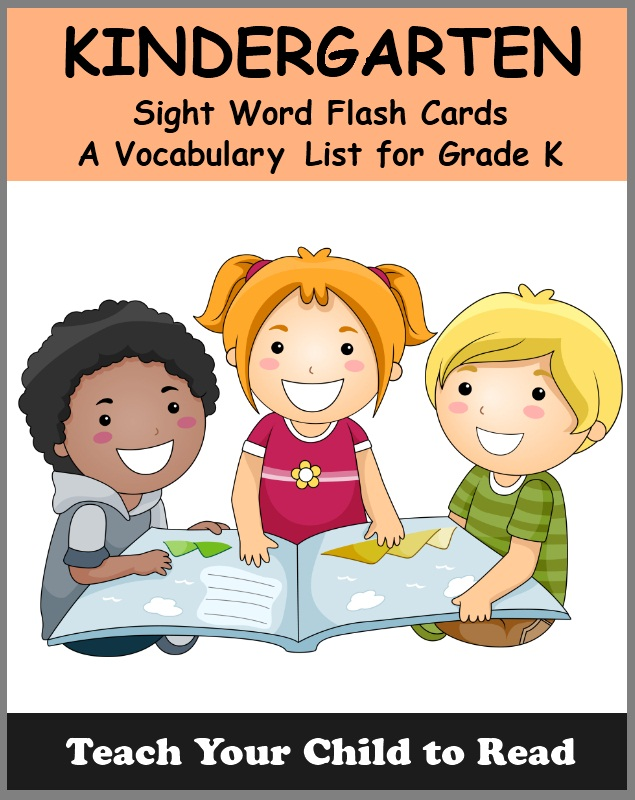KINDERGARTEN - Sight Word Flash Cards