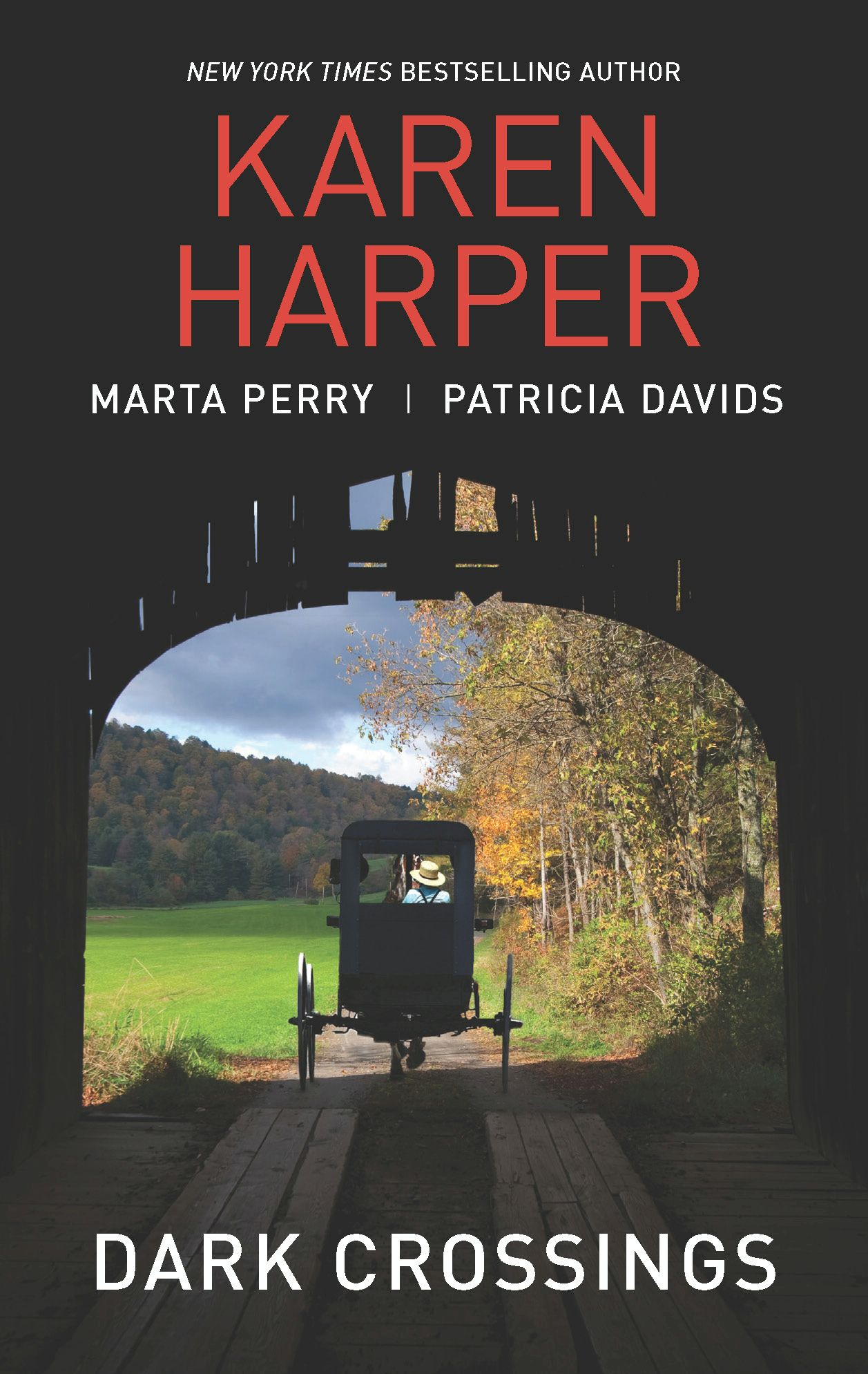 Dark Crossings: The Covered Bridge\Fallen in Plain Sight\Outside the Circle By: Karen Harper,Marta Perry,Patricia Davids