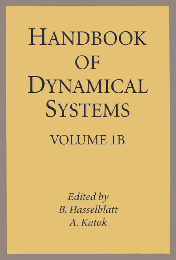 Handbook of Dynamical Systems Volume 1B