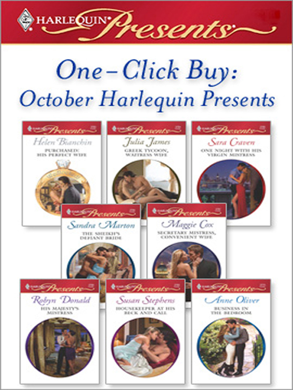 One-Click Buy: October Harlequin Presents