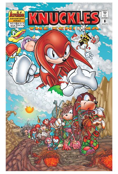 Knuckles the Echidna #10 By: Ken Penders, Manny Galan, Andrew Pepoy, Barry Grossman, Vickie Williams