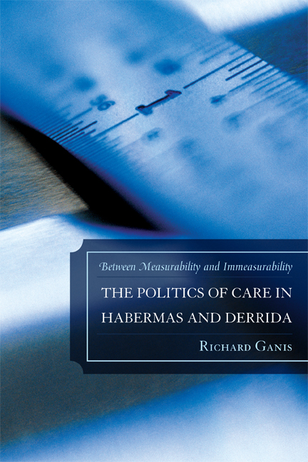The Politics of Care in Habermas and Derrida: Between Measurability and Immeasurability By: Richard Ganis