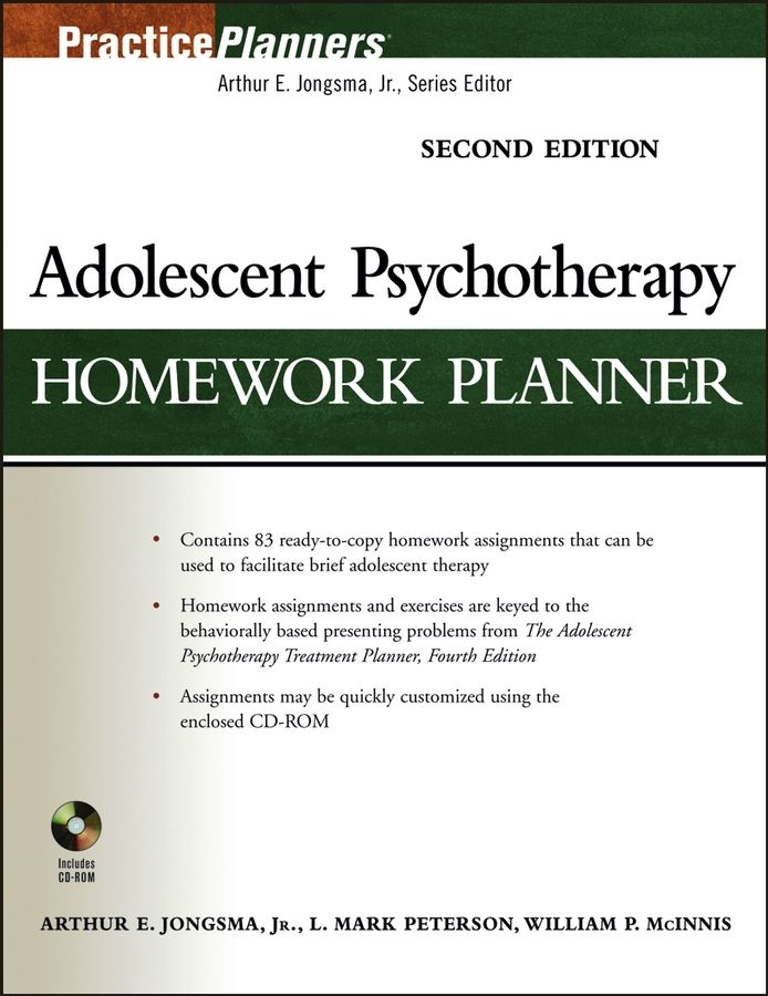 Adolescent Psychotherapy Homework Planner By: Arthur E. Jongsma Jr.,L. Mark Peterson,William P. McInnis
