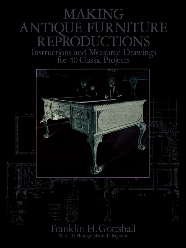 Making Antique Furniture Reproductions: Instructions and Measured Drawings for 4 Classic Projects