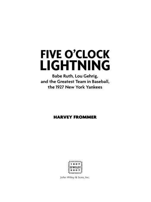Five OClock Lightning By: Harvey Frommer