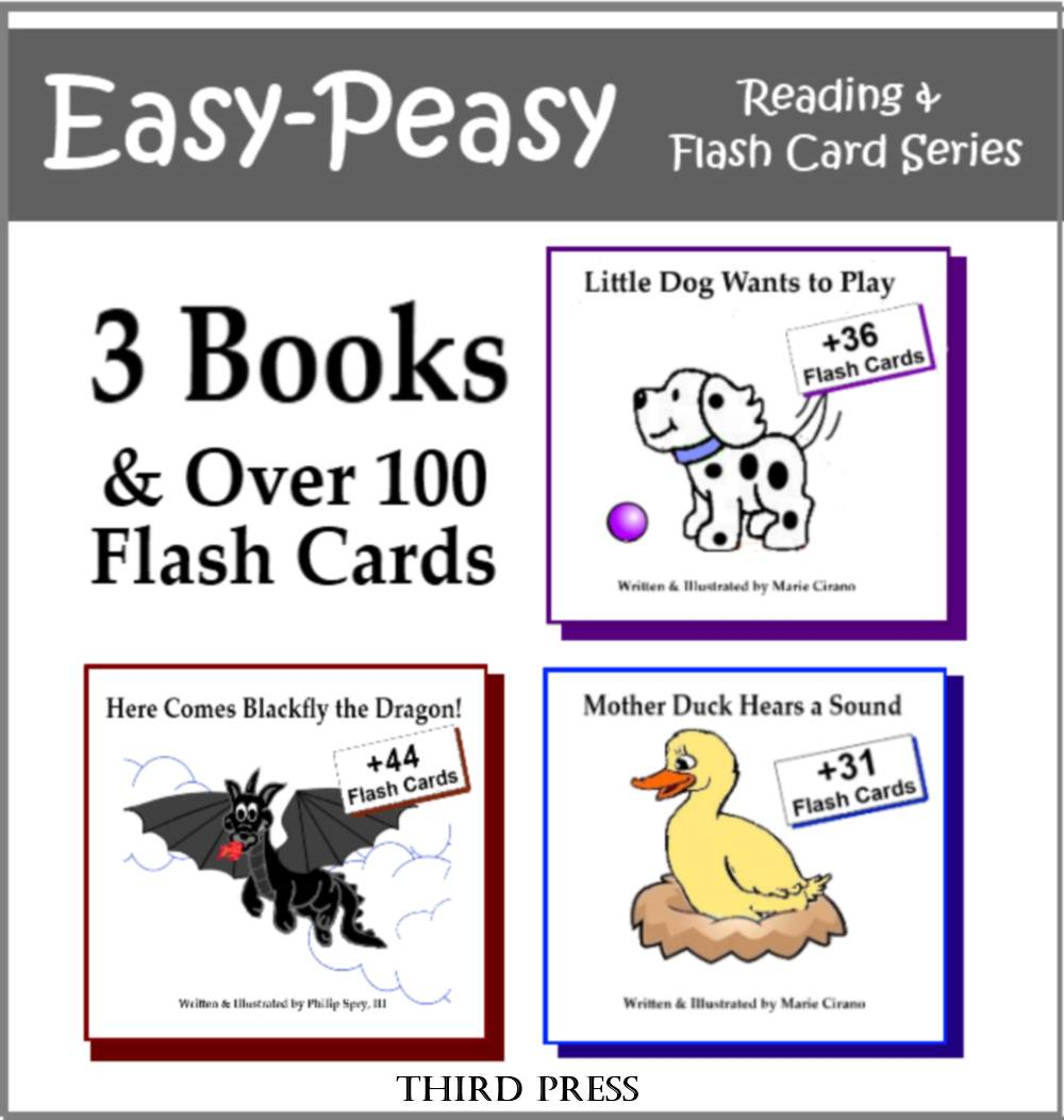 Collection 1 - 3 Easy Readers that are over 90% Sight Words! (Little Dog Wants to Play, Here Comes Blackfly, Mother Duck Hears a Sound)