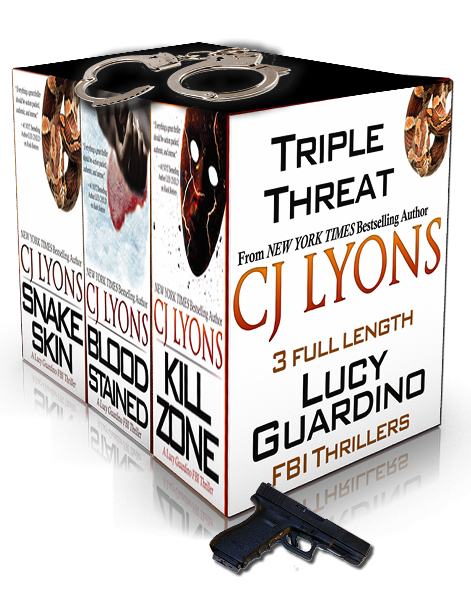 TRIPLE THREAT: 3 complete Lucy Guardino FBI Thrillers