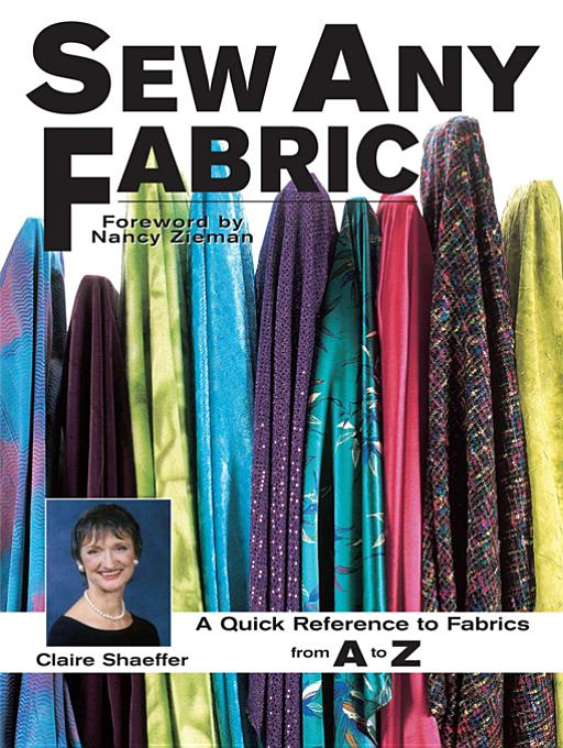 Sew Any Fabric By: Shaeffer, Claire
