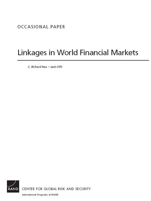 Linkages in World Financial Markets