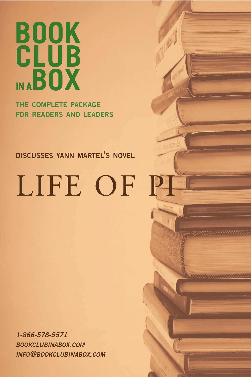 Bookclub-in-a-Box Discusses Yann Martel's novel, Life of Pi: The Complete Guide for Readers and Leaders By: Marilyn Herbert