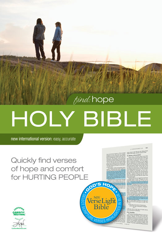 Find Hope: NIV VerseLight Bible: Quickly Find Verses of Hope and Comfort for Hurting People