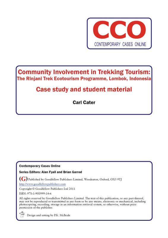 Community Involvement in Trekking Tourism: The Rinjani Trek Ecotoourism Programme, Lombok, Indonesia