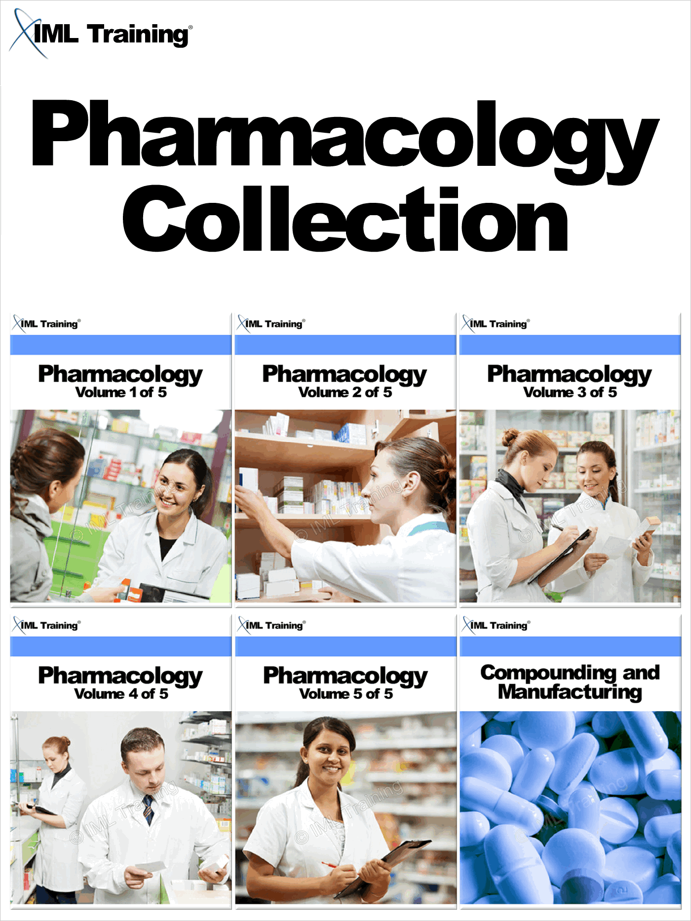 Pharmacology Collection Includes Pharmacology Volumes 1 to 5,  and Compounding and Manufacturing