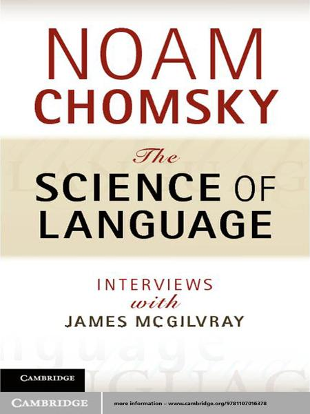 The Science of Language Interviews with James McGilvray