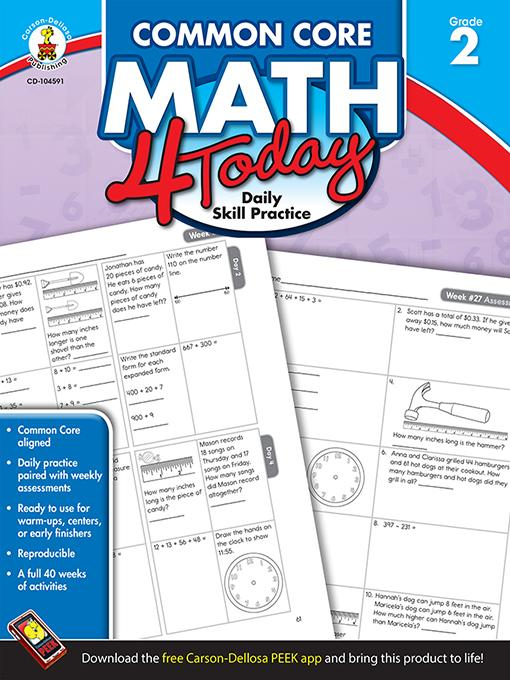 Erin McCarthy - Common Core Math 4 Today, Grade 2: Daily Skill Practice