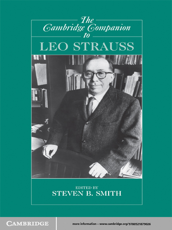 The Cambridge Companion to Leo Strauss By:
