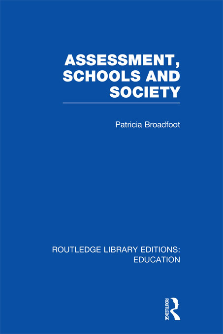 Assessment, Schools and Society (RLE Edu D)