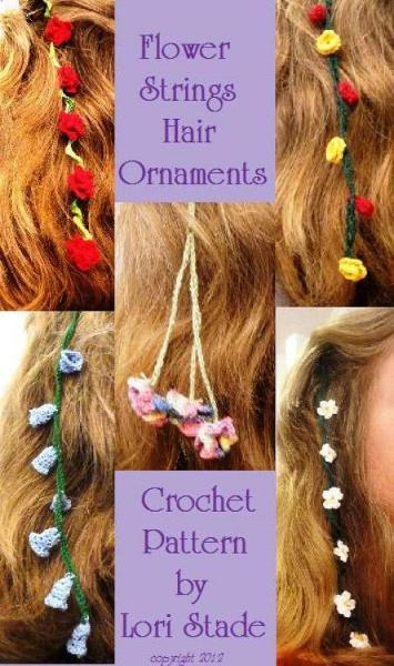 Flower Strings Hair Ornaments Crochet Pattern