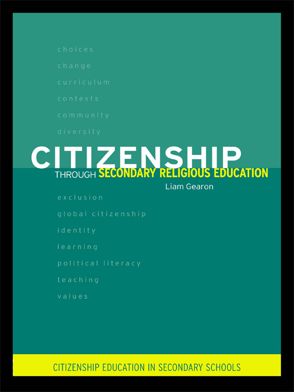 Citizenship Through Secondary Religious Education
