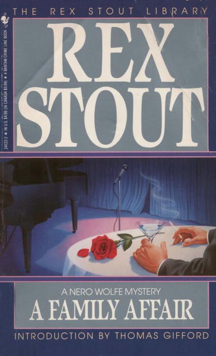 FAMILY AFFAIR By: Rex Stout