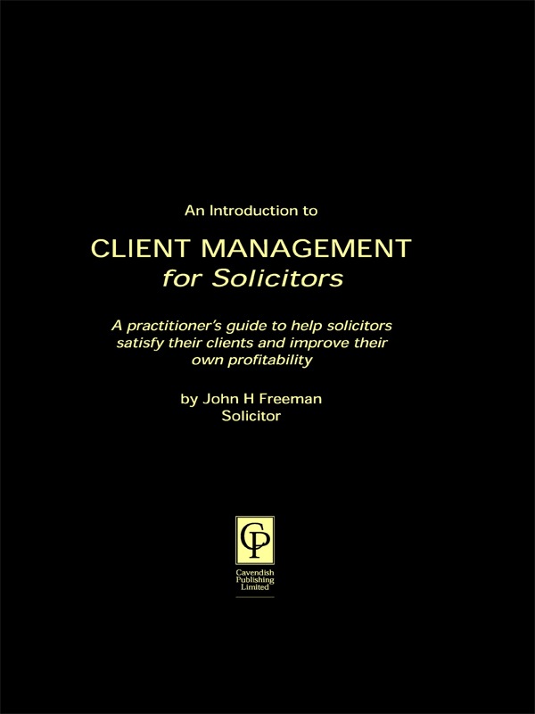 Client Management for Solicitors