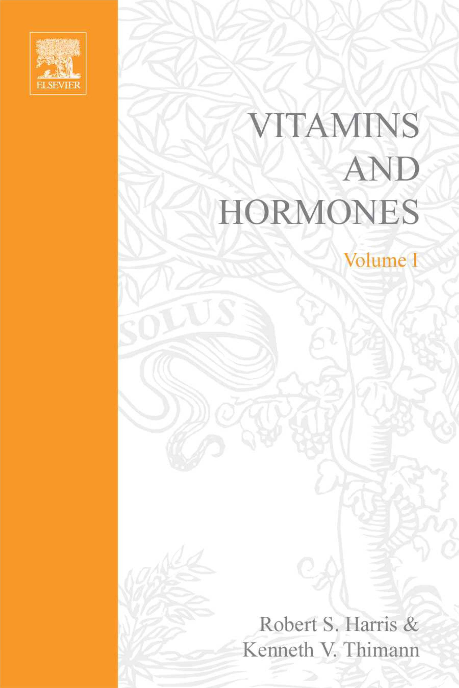 VITAMINS AND HORMONES V1