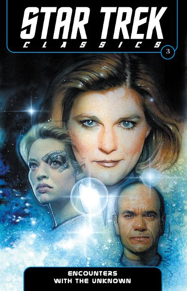 Star Trek Classics Volume 3: Encounters with the Unknown By: Archer, Nathan; Young, Janine Ellen; Young, Doselle; Abnett, Dan; Lanning, Andy; Rusch, Kristine Kathryn; Smith, Dean Wesley; Moy, Jeffrey; Roach, David; Teranishi, Robert; Struzan, Drew