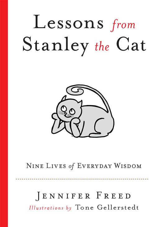 Lessons from Stanley the Cat: Nine Lives of Everyday Wisdom By: Jennifer Freed,Tone Gellerstedt