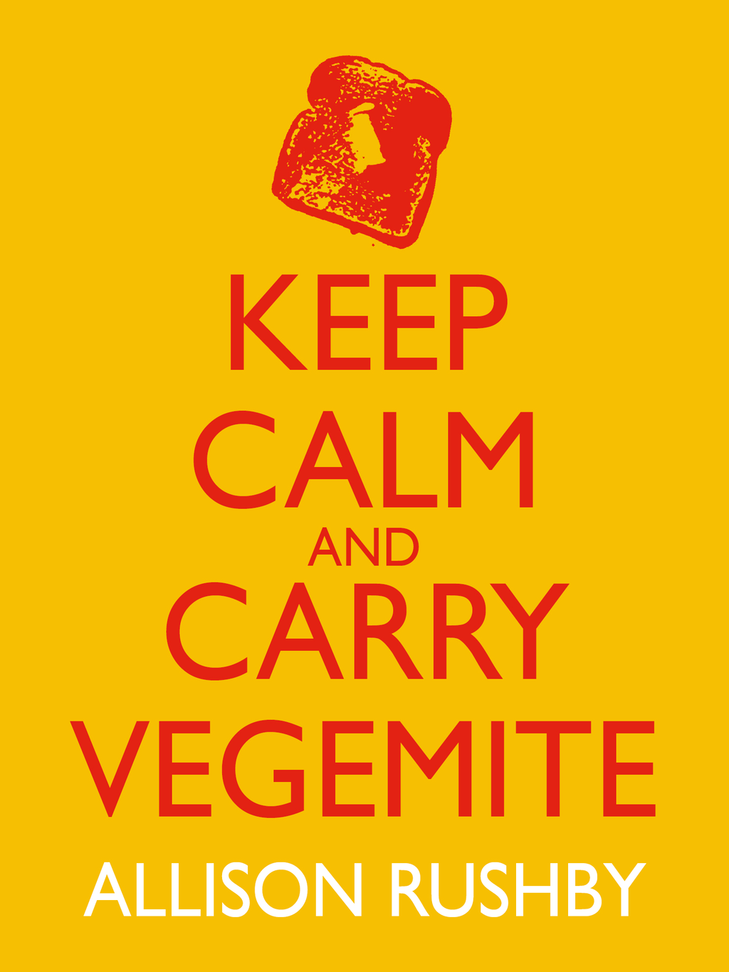 Keep Calm and Carry Vegemite