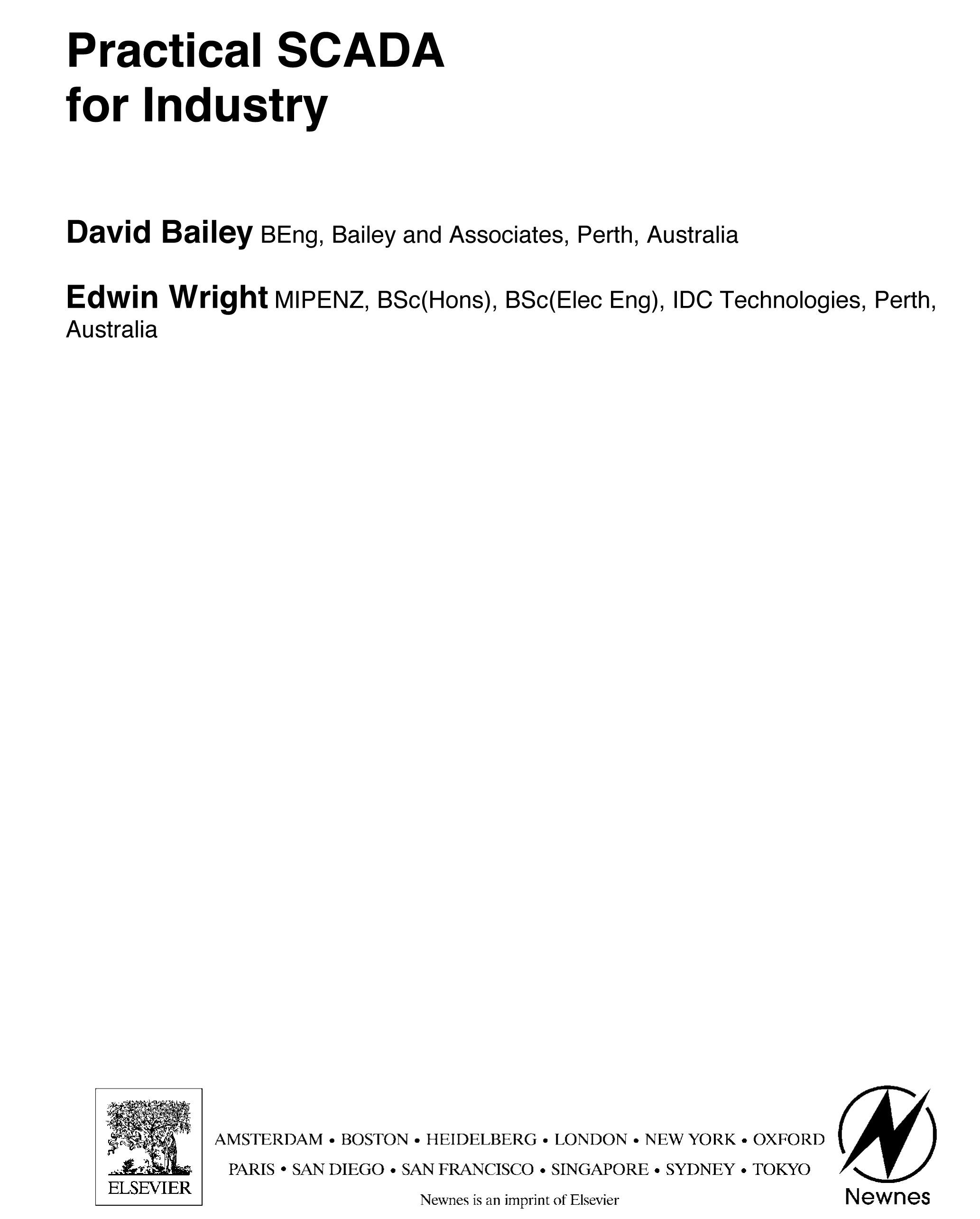 Practical SCADA for Industry By: Bailey, David