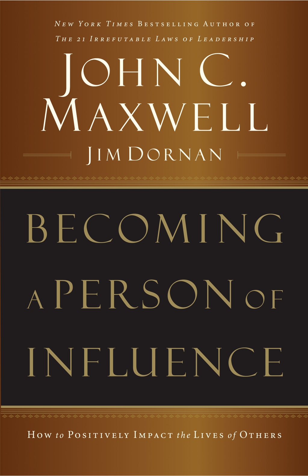 Becoming A Person Of Influence By: John C. Maxwell