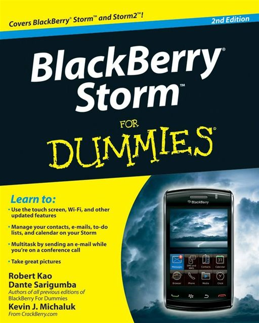 BlackBerry Storm For Dummies By: Dante Sarigumba,Kevin J. Michaluk,Robert Kao