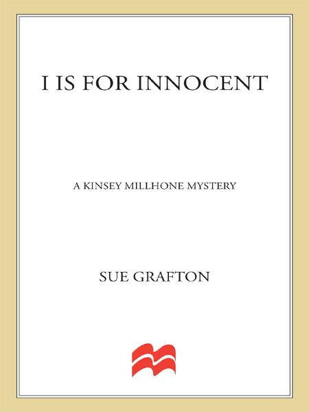 """I"" is for Innocent By: Sue Grafton"