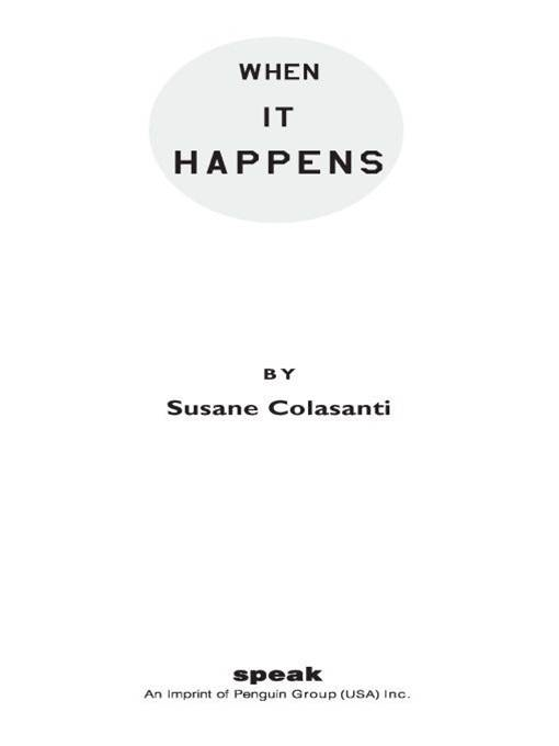 When It Happens By: Susane Colasanti