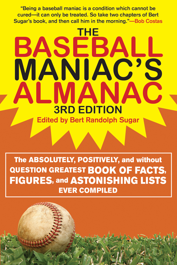 "The Baseball Maniacs Almanac, 3rd Edition"" By: Bert Randolph Sugar,Stuart Shea"