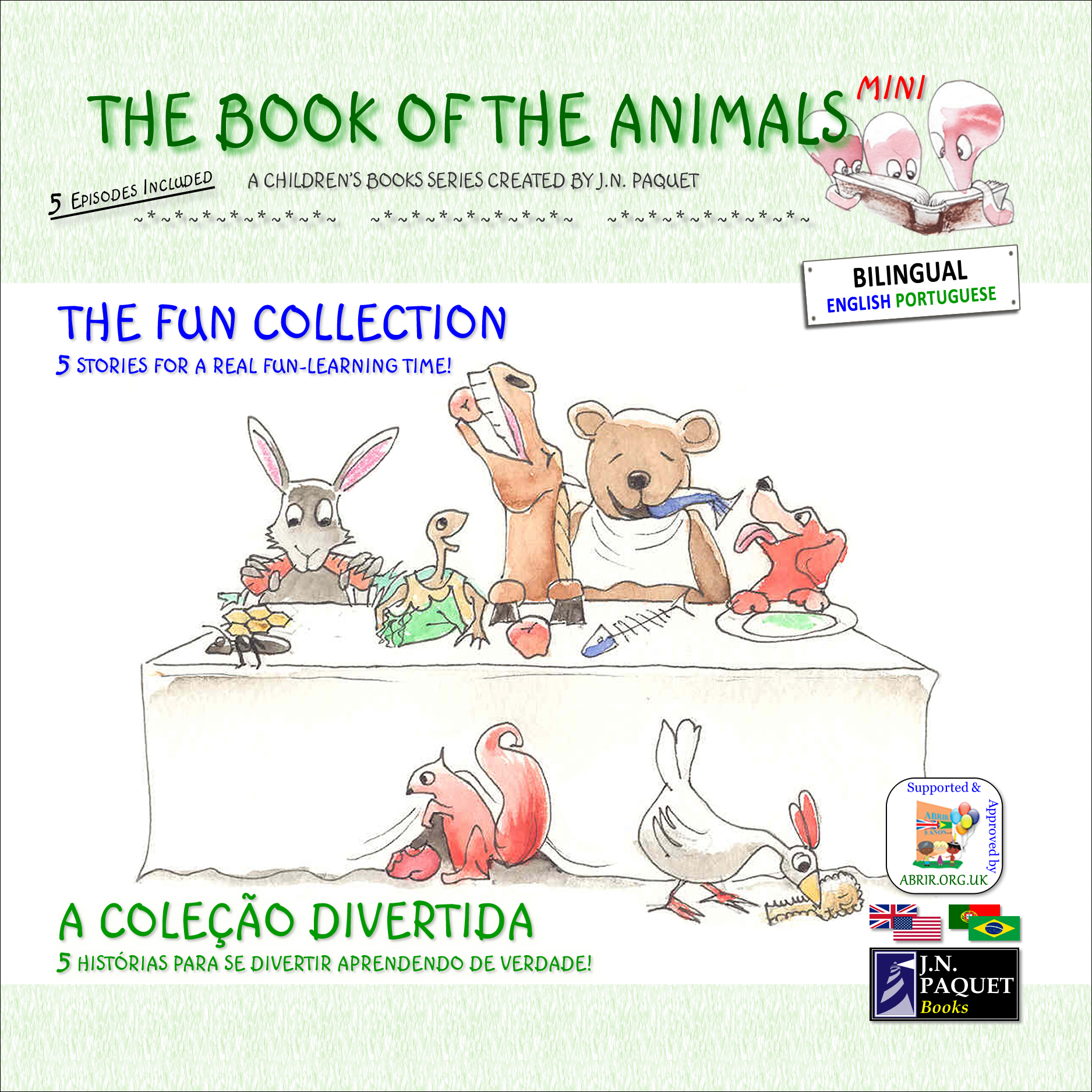 The Book of The Animals - Mini - The Fun Collection (Bilingual English-Portuguese)