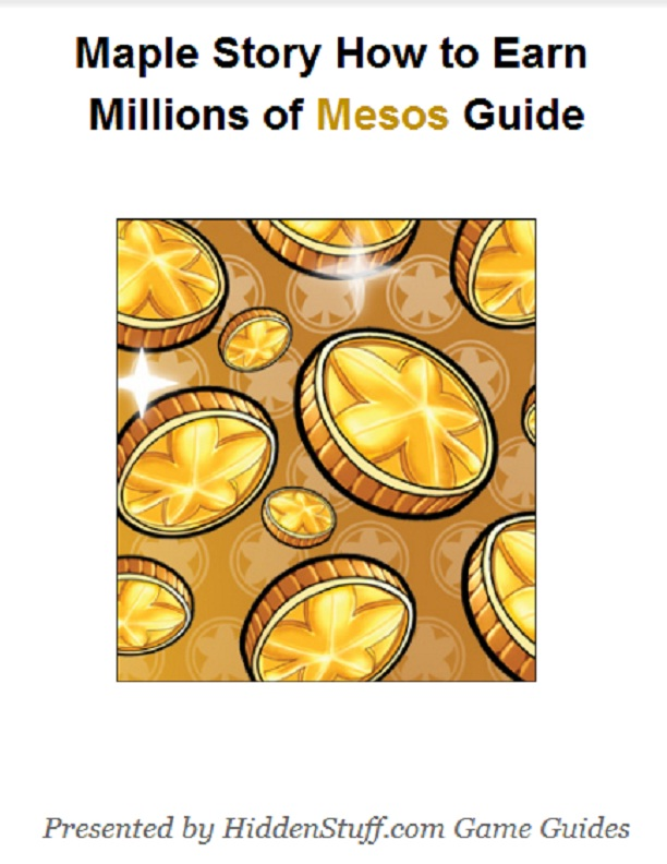 Maple Story How to Earn Millions of Mesos Guide