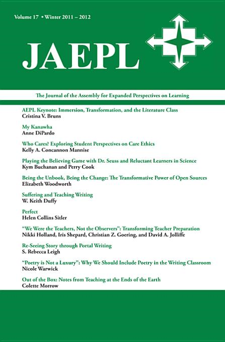 JAEPL: The Journal of the Assembly for Expanded Perspectives on Learning Vol 17