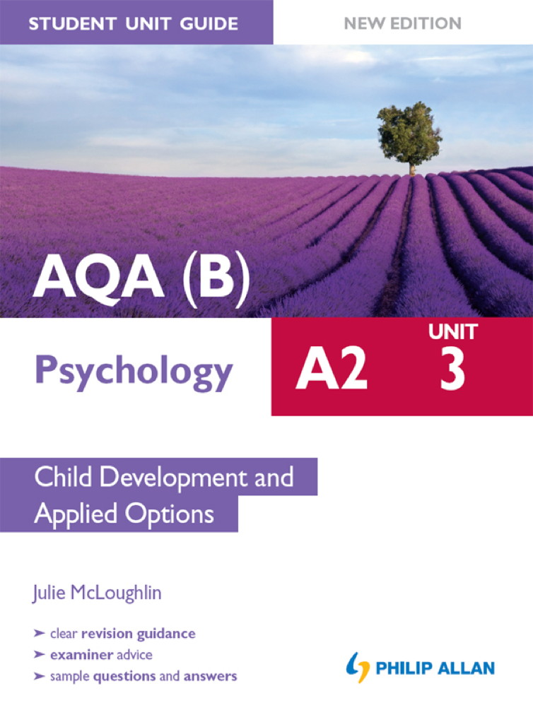 AQA(B) A2 Psychology Student Unit Guide New Edition: Unit 3 Child Development and Applied Options