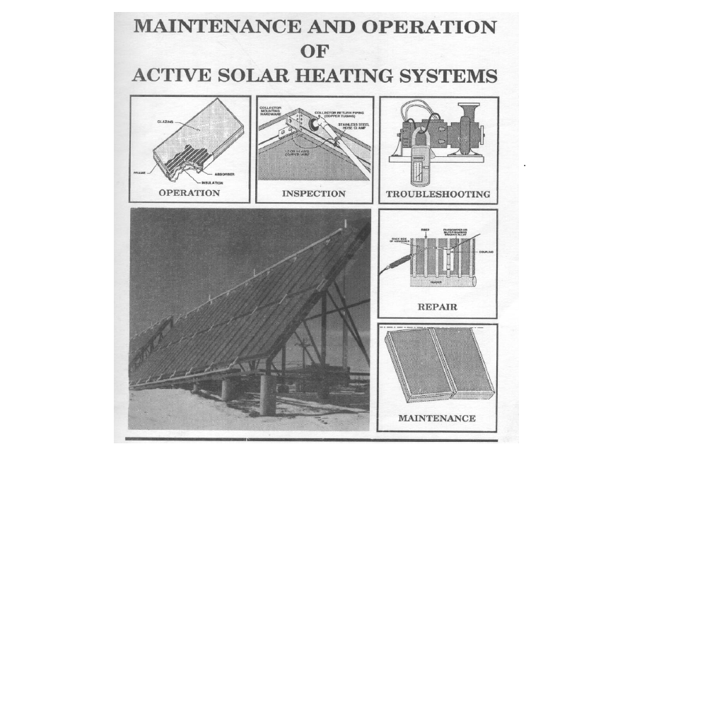 Maintenance and Operation of Active Solar Heating Systems