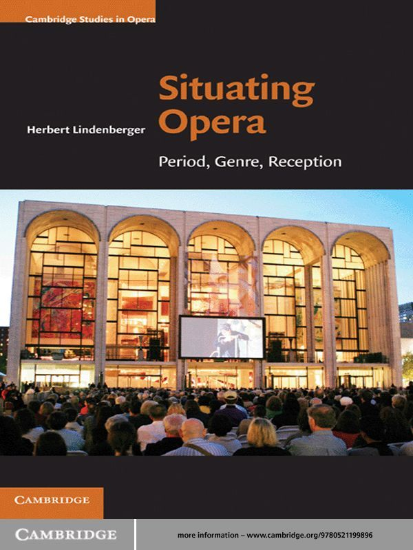 Situating Opera By: Herbert Lindenberger