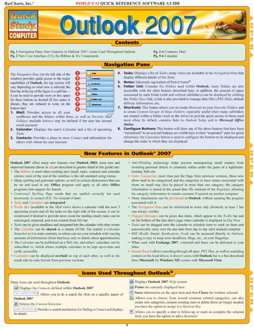 Outlook 2007 By: BarCharts,Inc