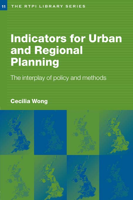Indicators for Urban and Regional Planning The Interplay of Policy and Methods