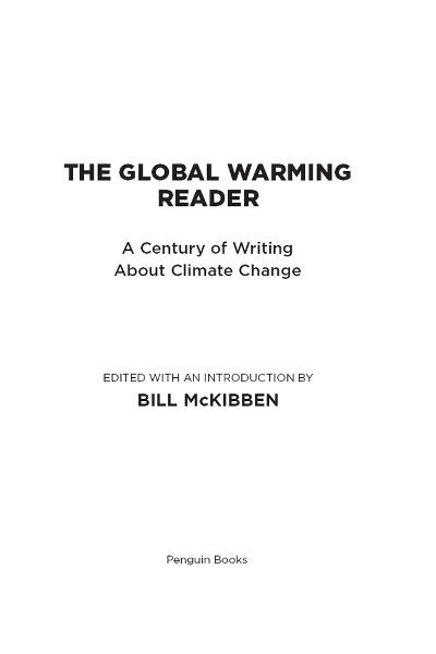 The Global Warming Reader By: Bill McKibben