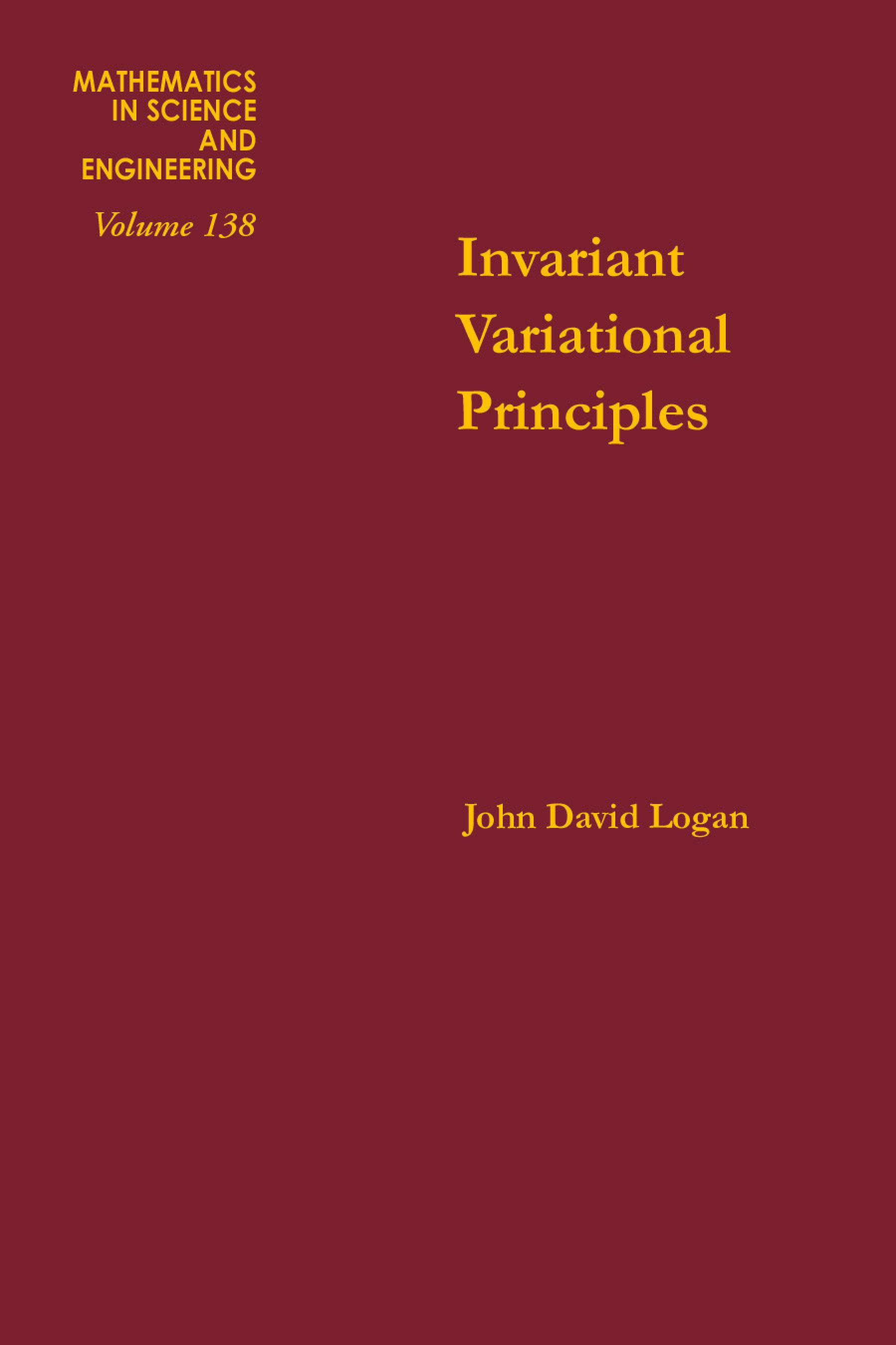 Invariant variational principles