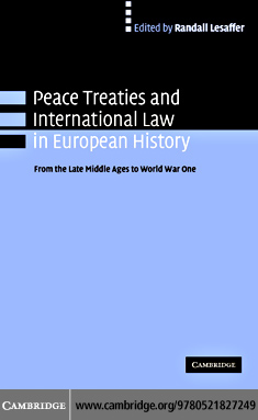 Peace Treaties Inter Law Euro Hist