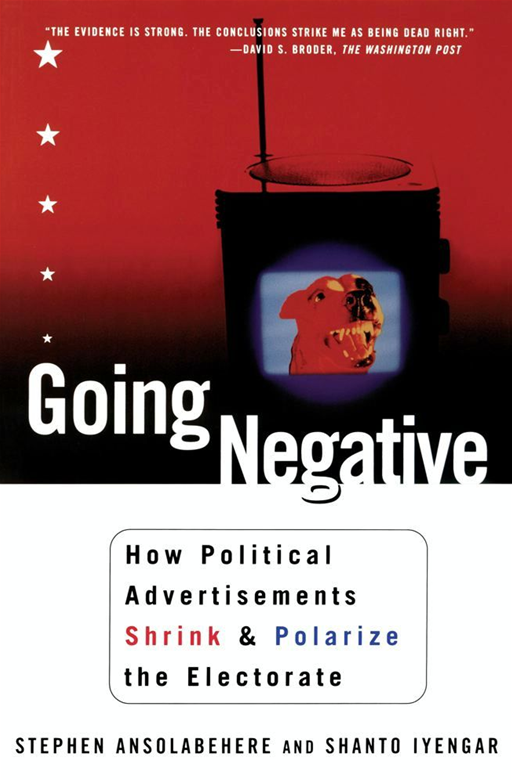 Going Negative By: Shanto Iyengar,Stephen Ansolabehere