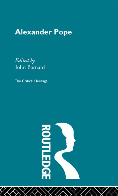 Alexander Pope The Critical Heritage