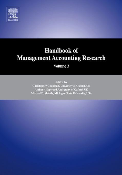 Handbooks of Management Accounting Research 3-Volume Set