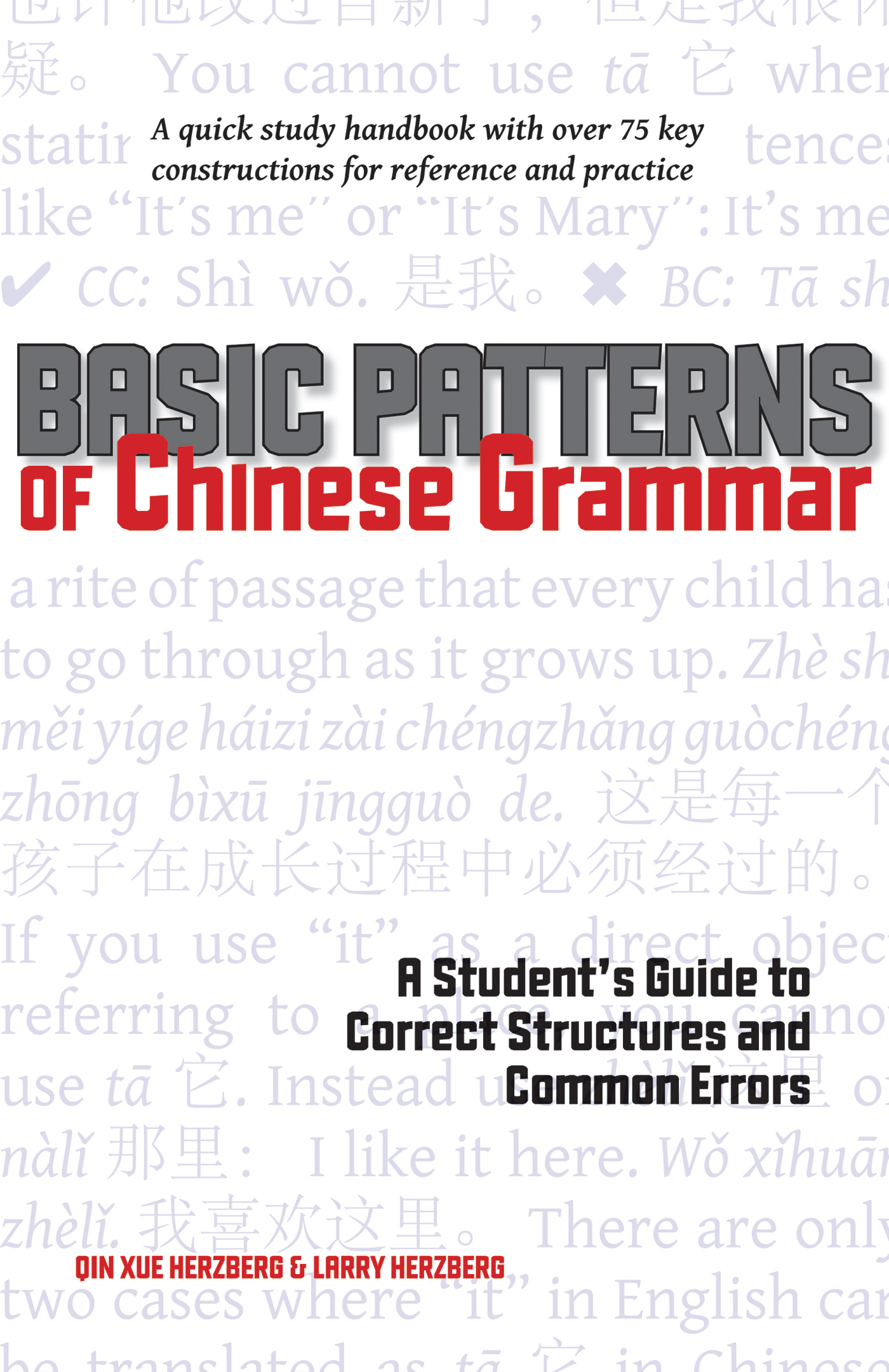 Basic Patterns of Chinese Grammar By: Larry Herzberg,Qin Xue Herzberg